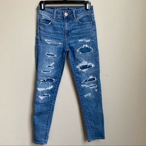 American Eagle high rise jeans size 0
